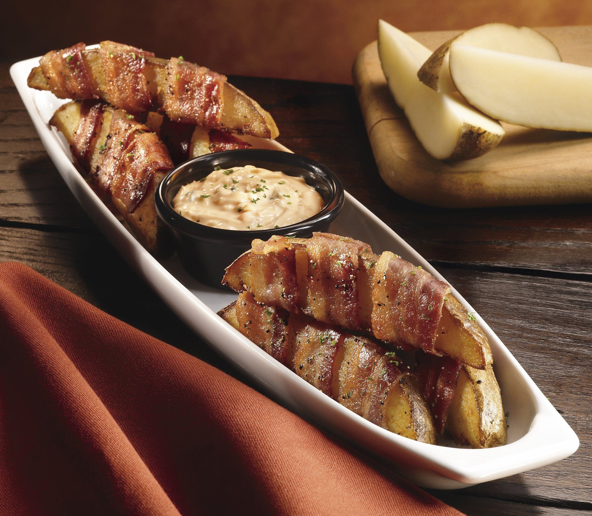 dogs bacon wrapped meatloaf bacon wrapped potatoes with creamy dill ...