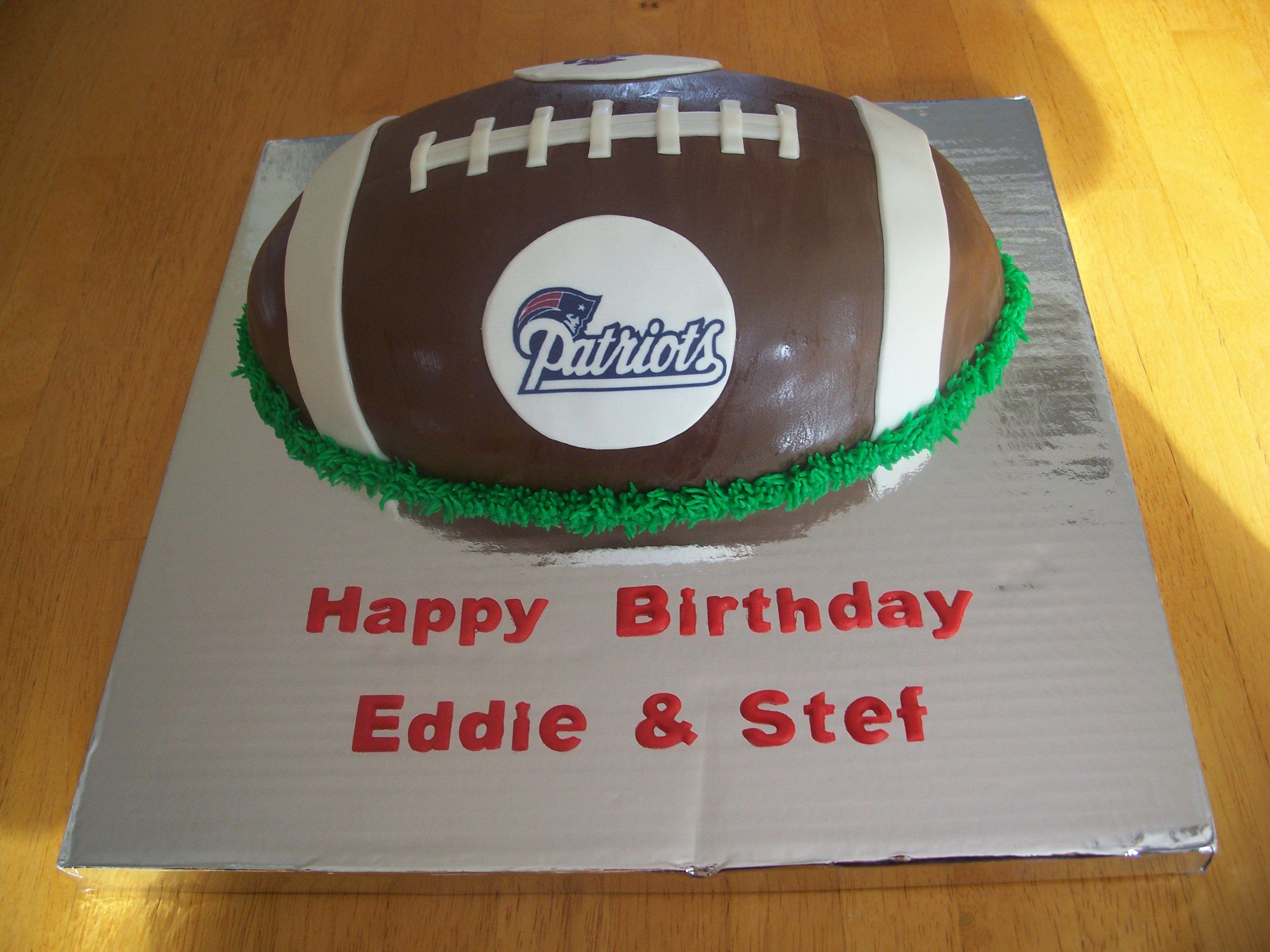 Football Cake Pictures Uk : New England Patriots Football Cake Kids Pinterest