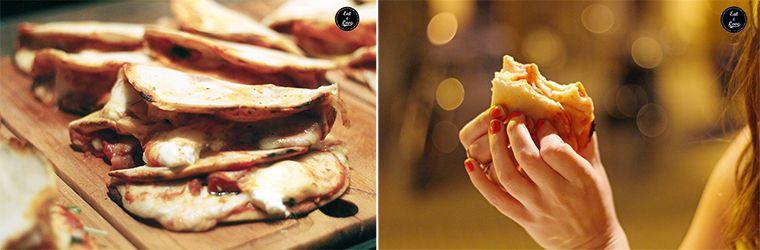 Pizzetas de tomate natural y mozzarella en Aiò - restaurante pizzeria sardo Madrid Malasaña