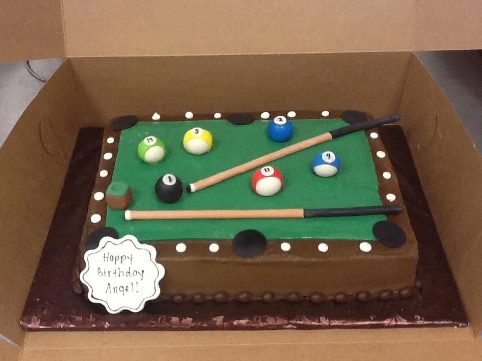 pool table cute cakes pinterest
