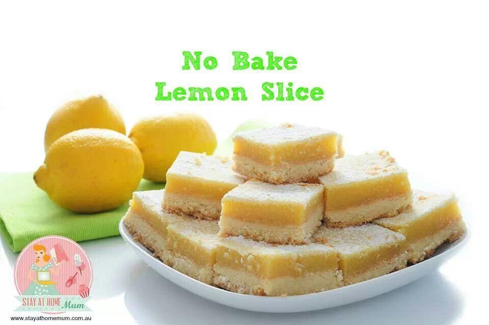 No bake lemon slice | Slices and bars | Pinterest