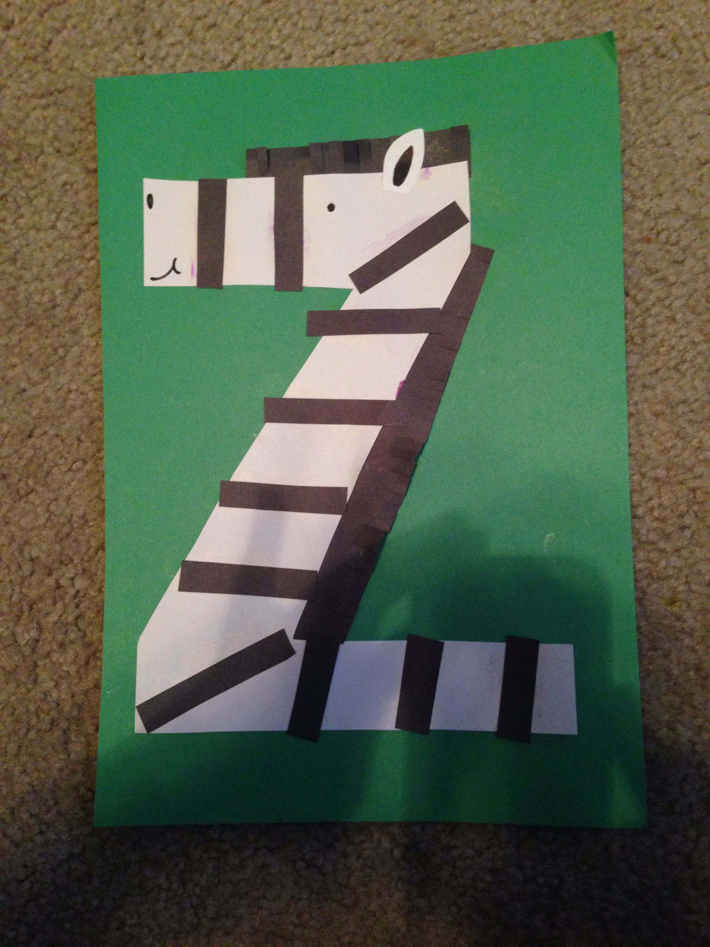 Letter Z Craft  Z is for Zebra  The Letters of Literacy