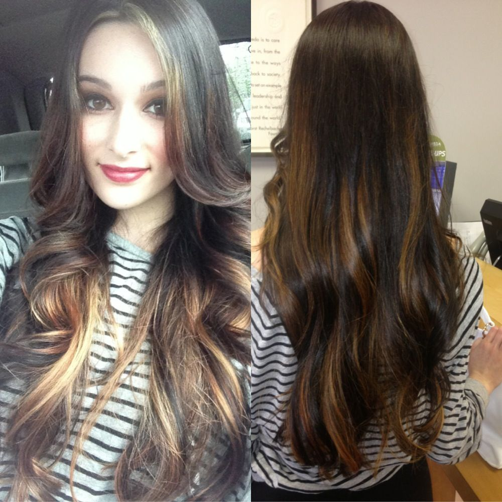 peekaboo highlights hair pinterest