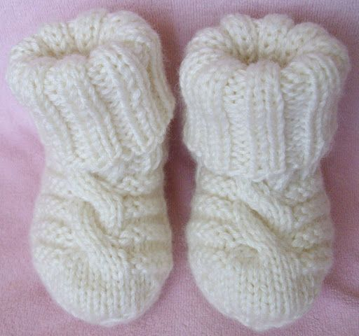 Вязание для малышей спицами носки