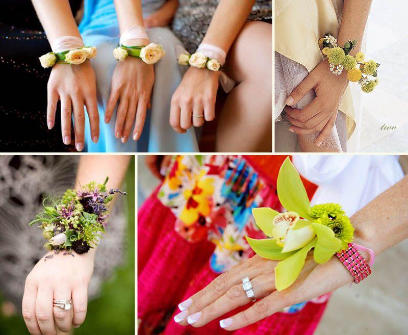 Цветы на руку своими руками для подружек невесты 478