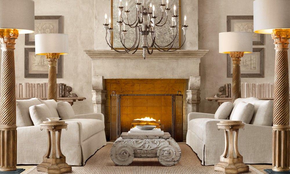 Restoration hardware furniture for the home pinterest for Restoration hardware living room furniture