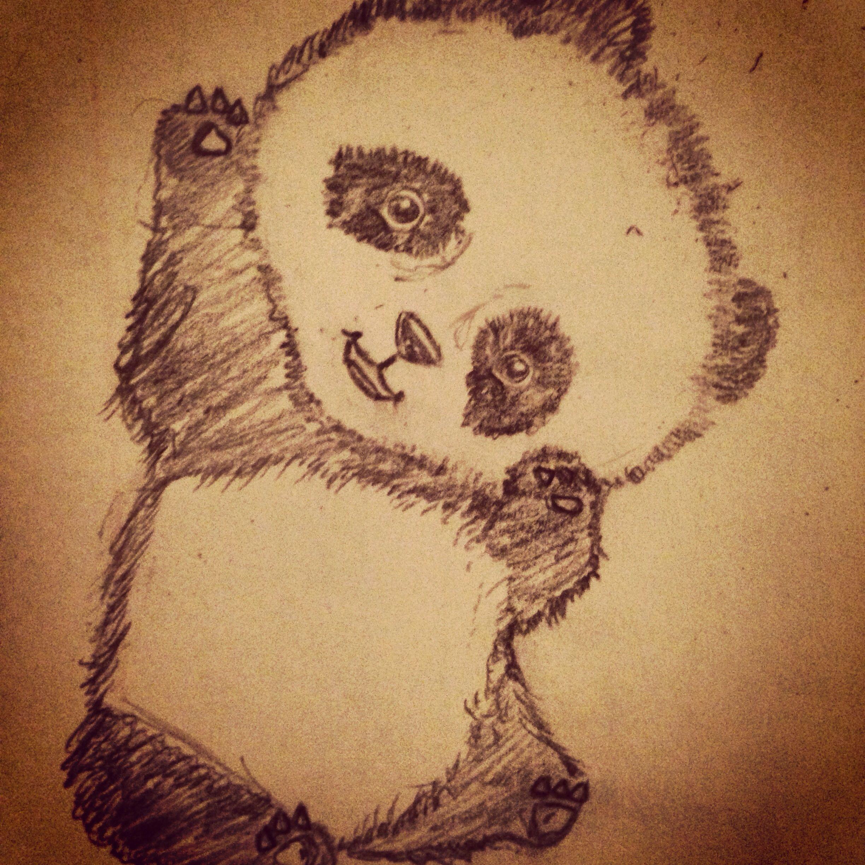 sketchesPanda Drawing In Pencil