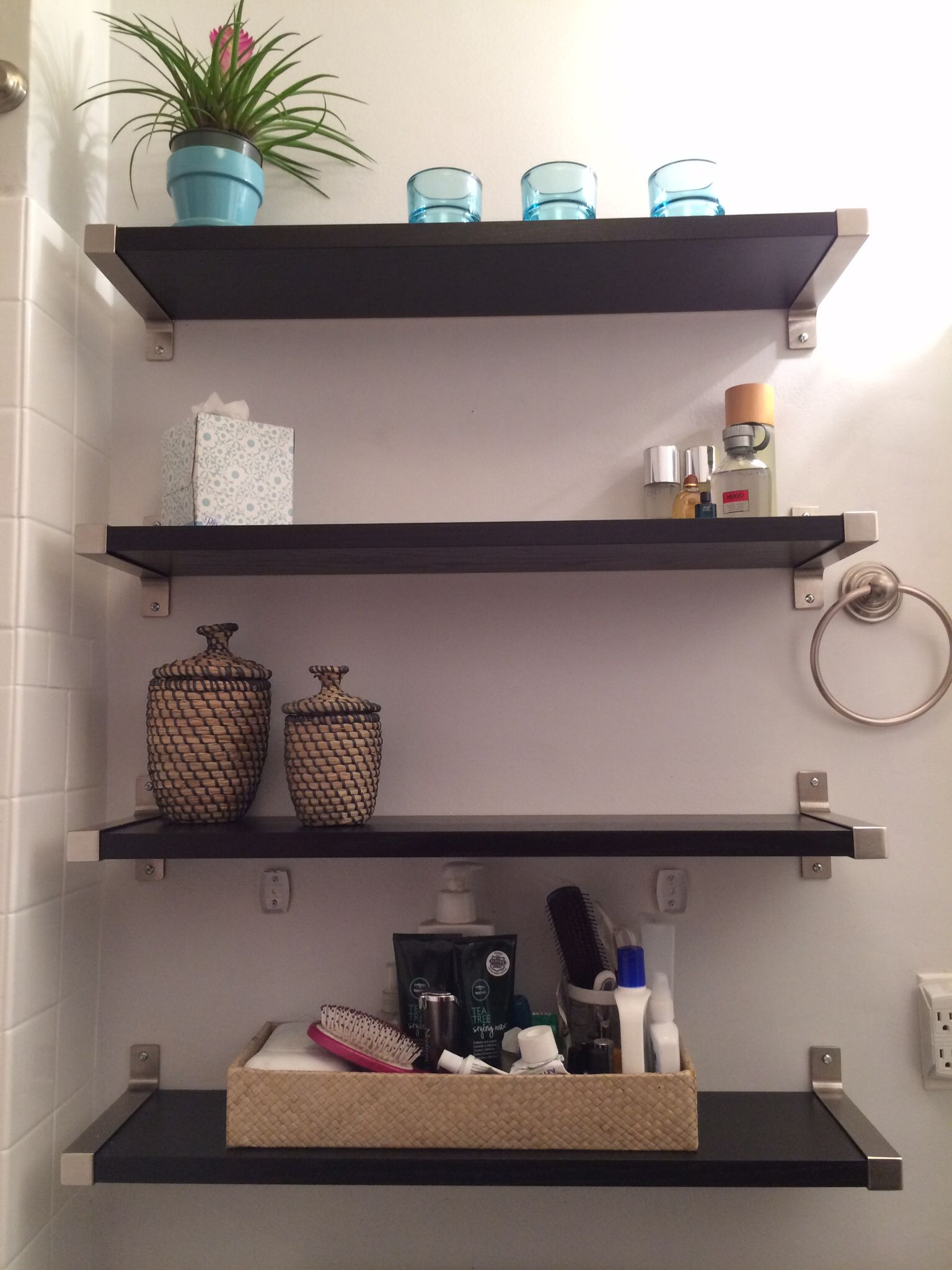 Small bathroom solutions ikea shelves bathroom pinterest for Compact bathroom solutions