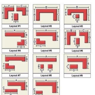 U Shaped Small Kitchen Layout Design 1308 Kitchen