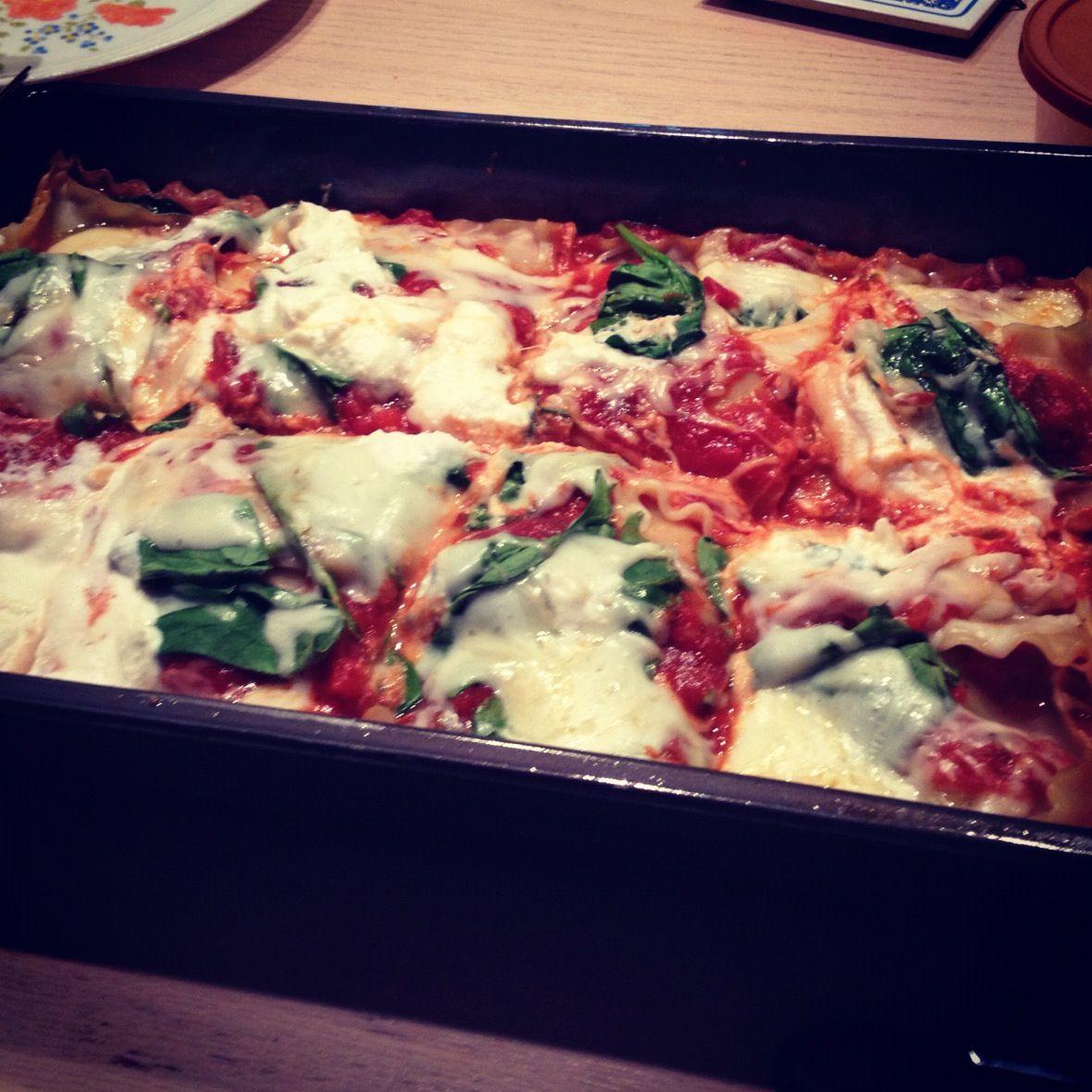 My mom's vege lasagna | food | Pinterest