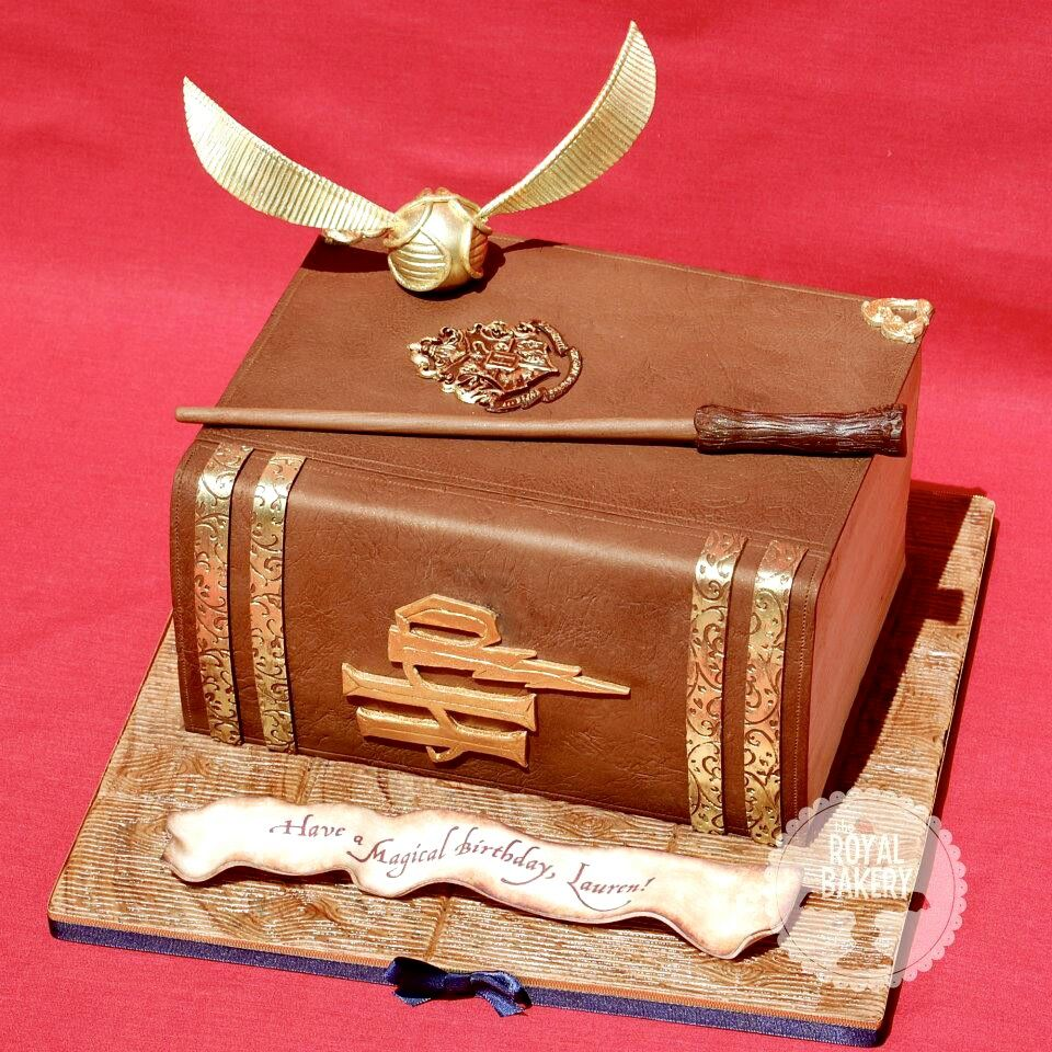 Cake Decorated Like Books : Harry Potter book cake Cakes Pinterest