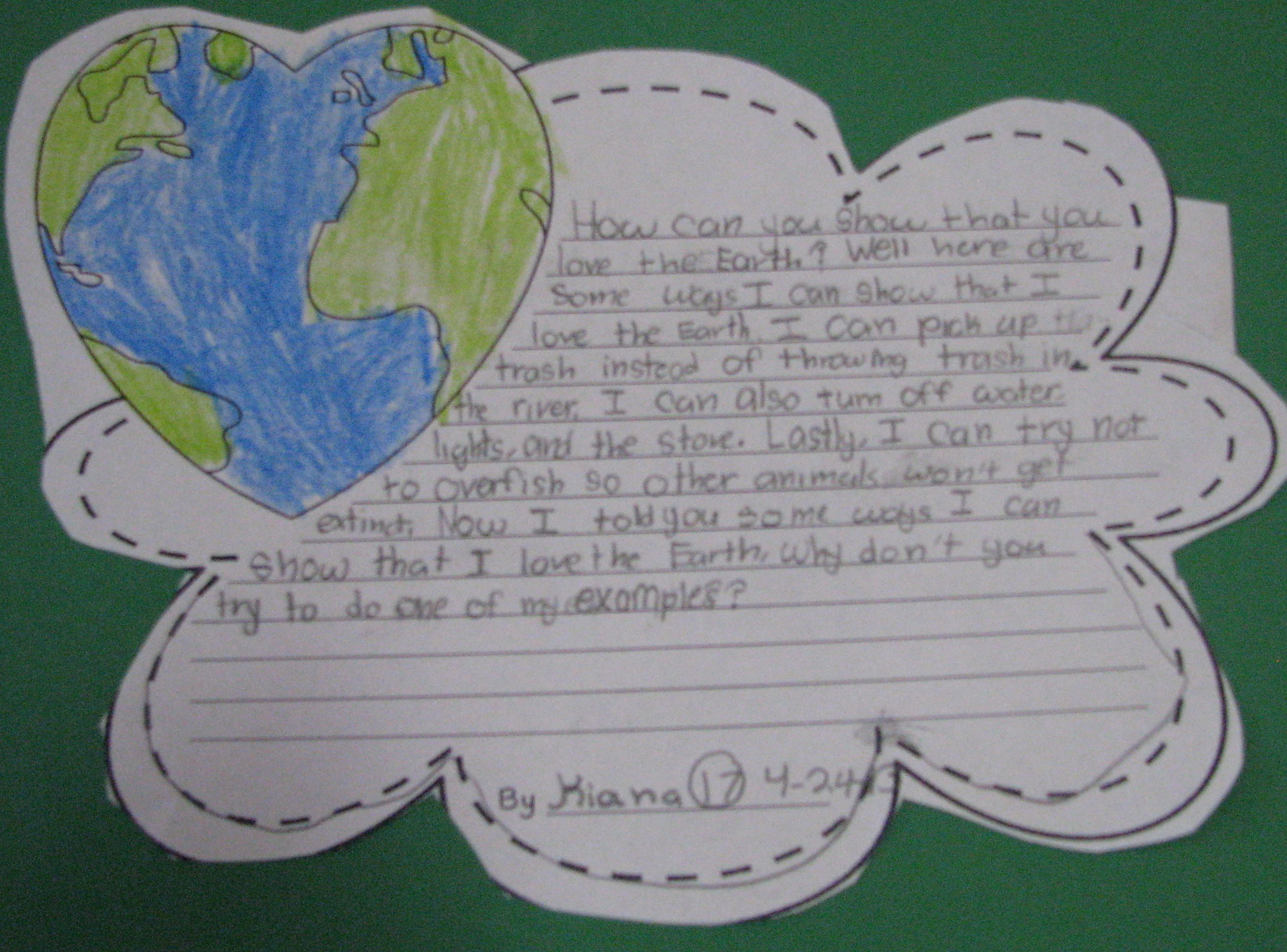 Earth day writing activities pinterest