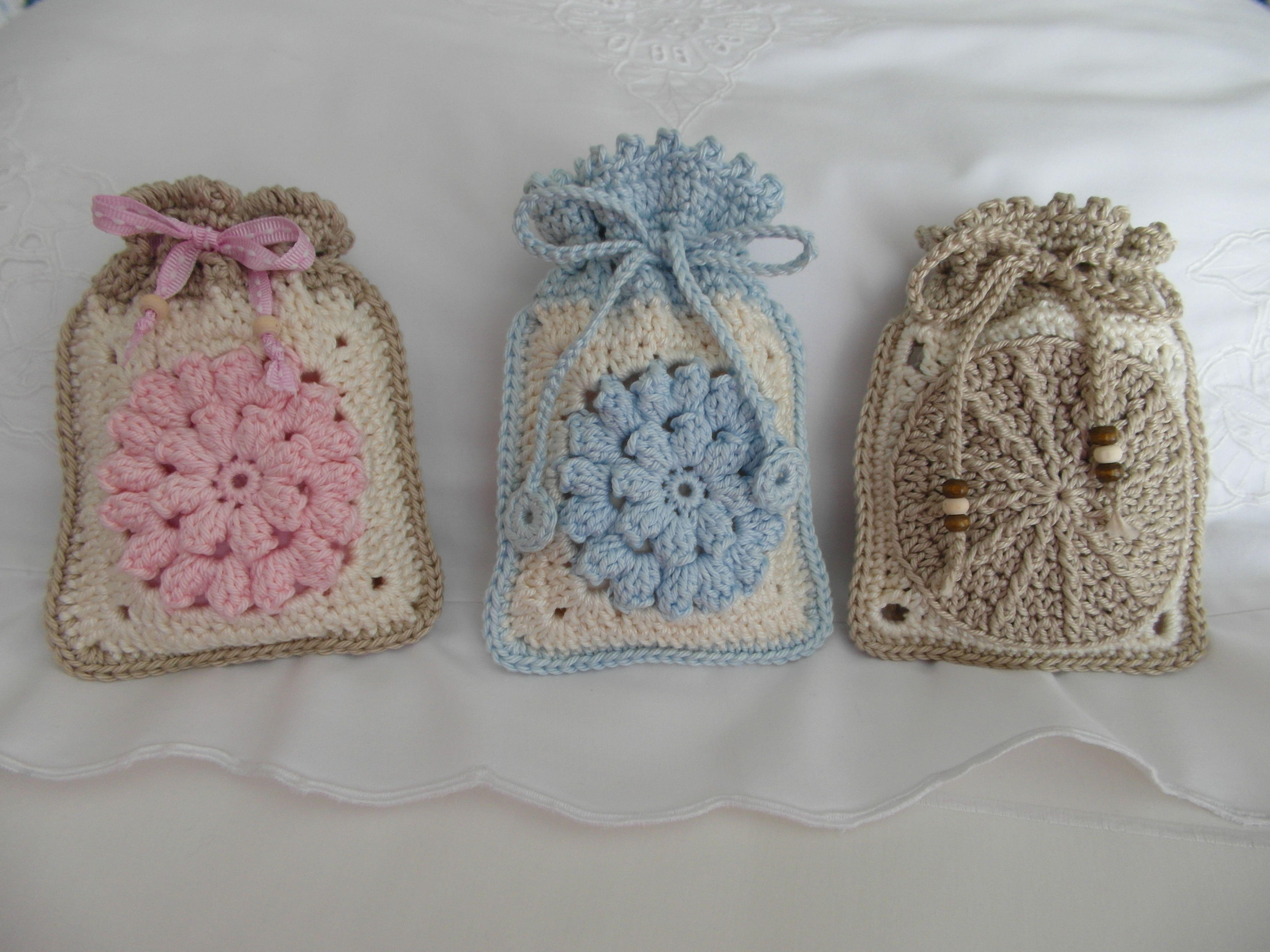 Crocheted sachets hekel Pinterest
