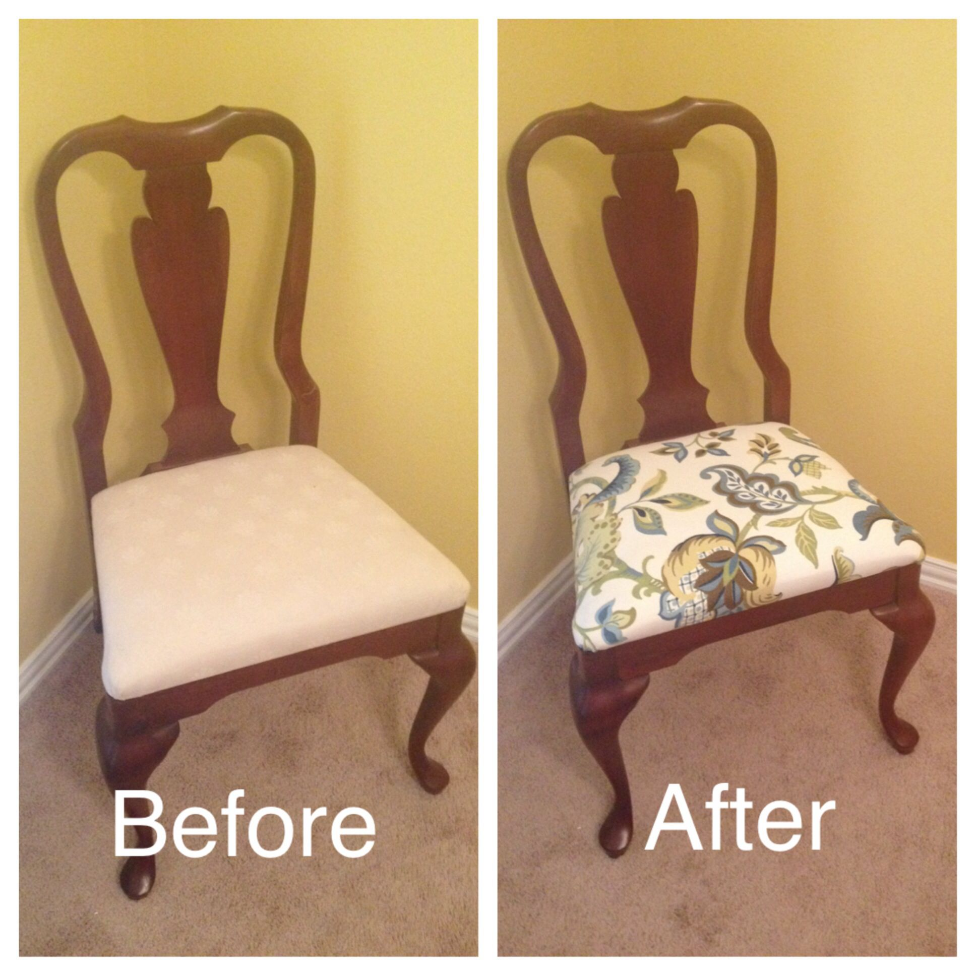 Dining Room DIY Reupholstered Chairs For The Home Pinterest