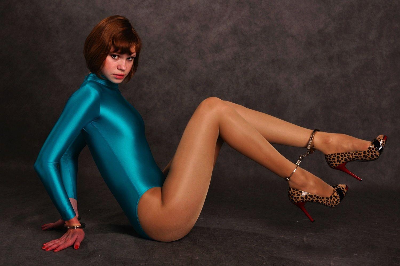 Spandex peavey shiny pantyhose