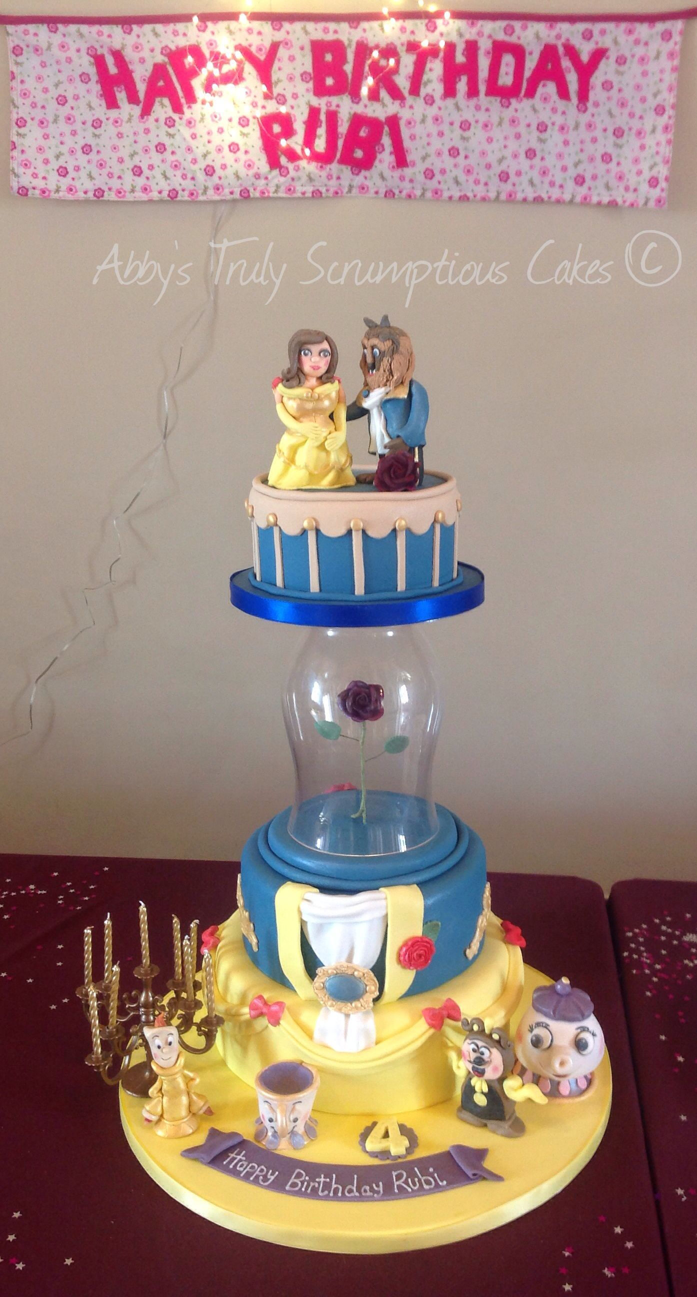 Beauty and the Beast cake  Birthday Cakes  Pinterest
