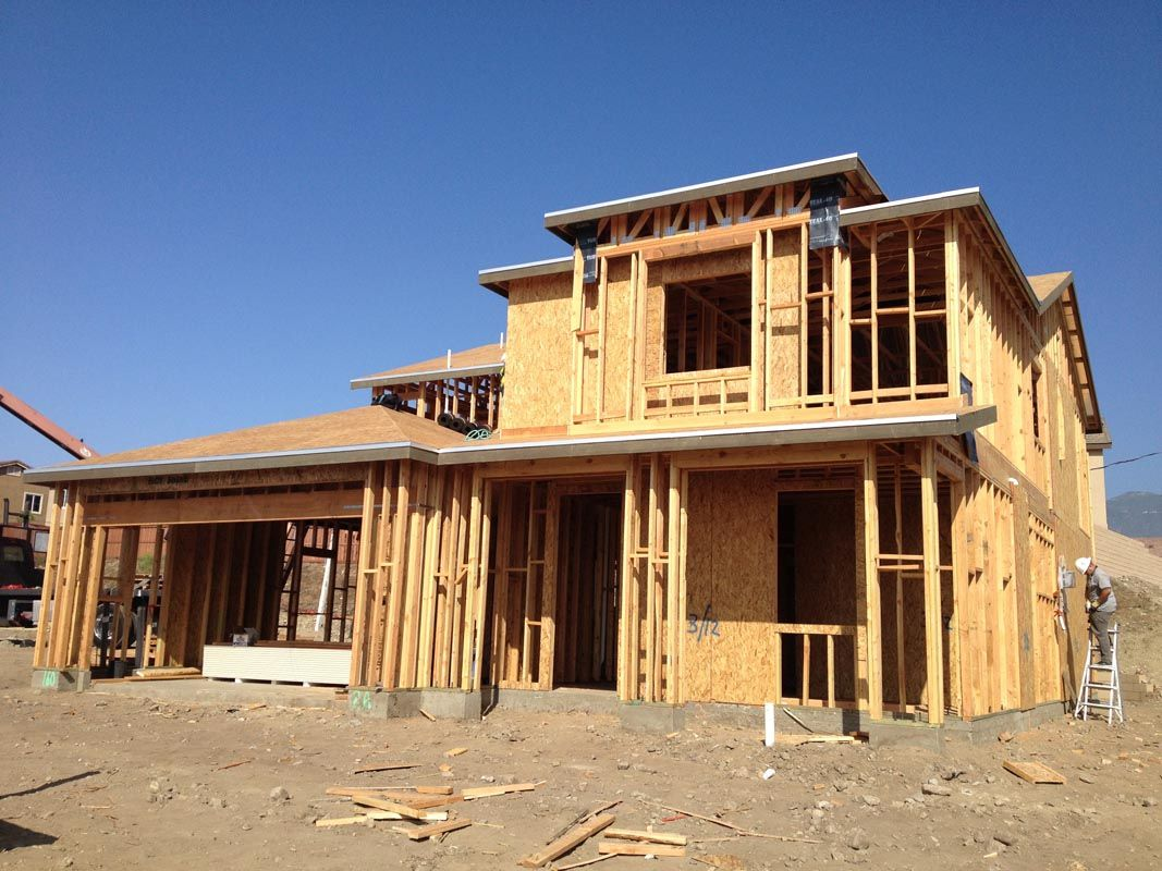 New house being built rosena ranch pinterest for Picture of a new house