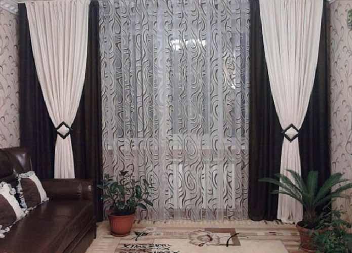 Простые шторы в гостиную своими руками
