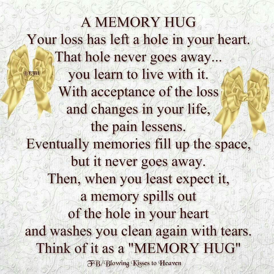 memory hug i love quotes and sayings pinterest