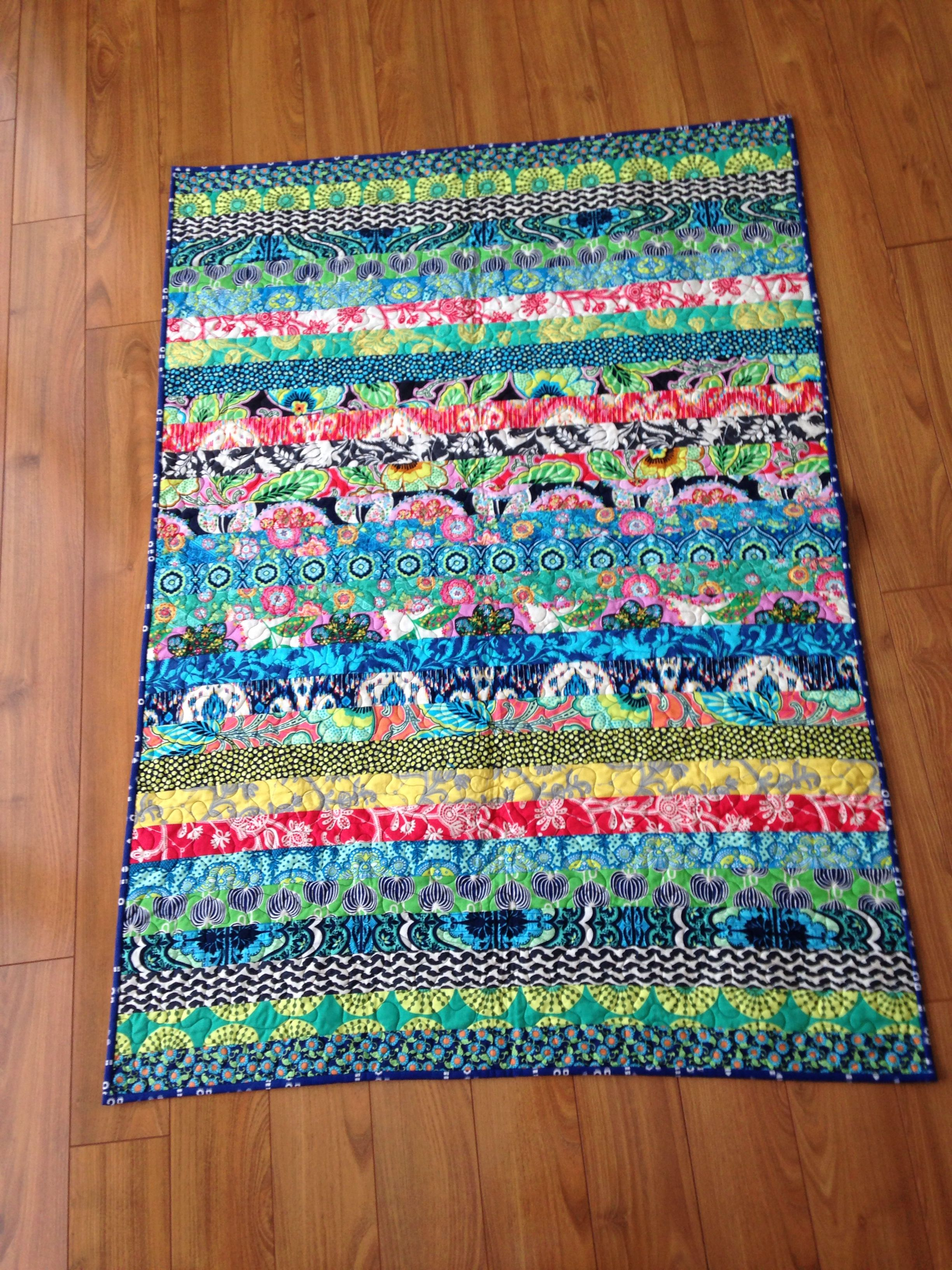 Amy Butler Jelly Roll Quilt Very Easy Quilting Pinterest