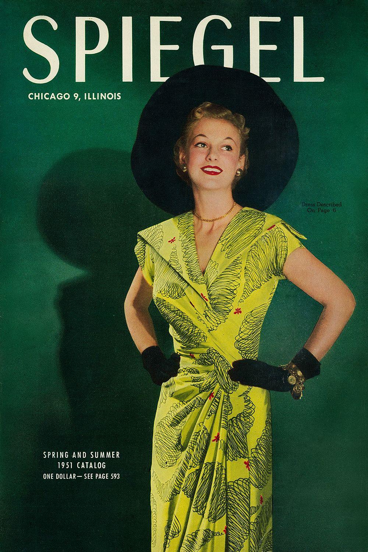 1951 spiegel catalog cover vintage fashion pinterest. Black Bedroom Furniture Sets. Home Design Ideas