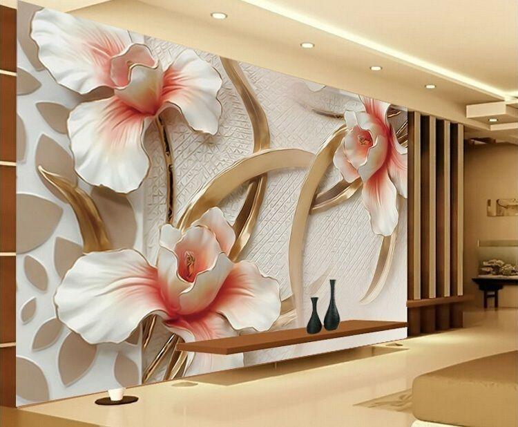 3добои цветы для стен