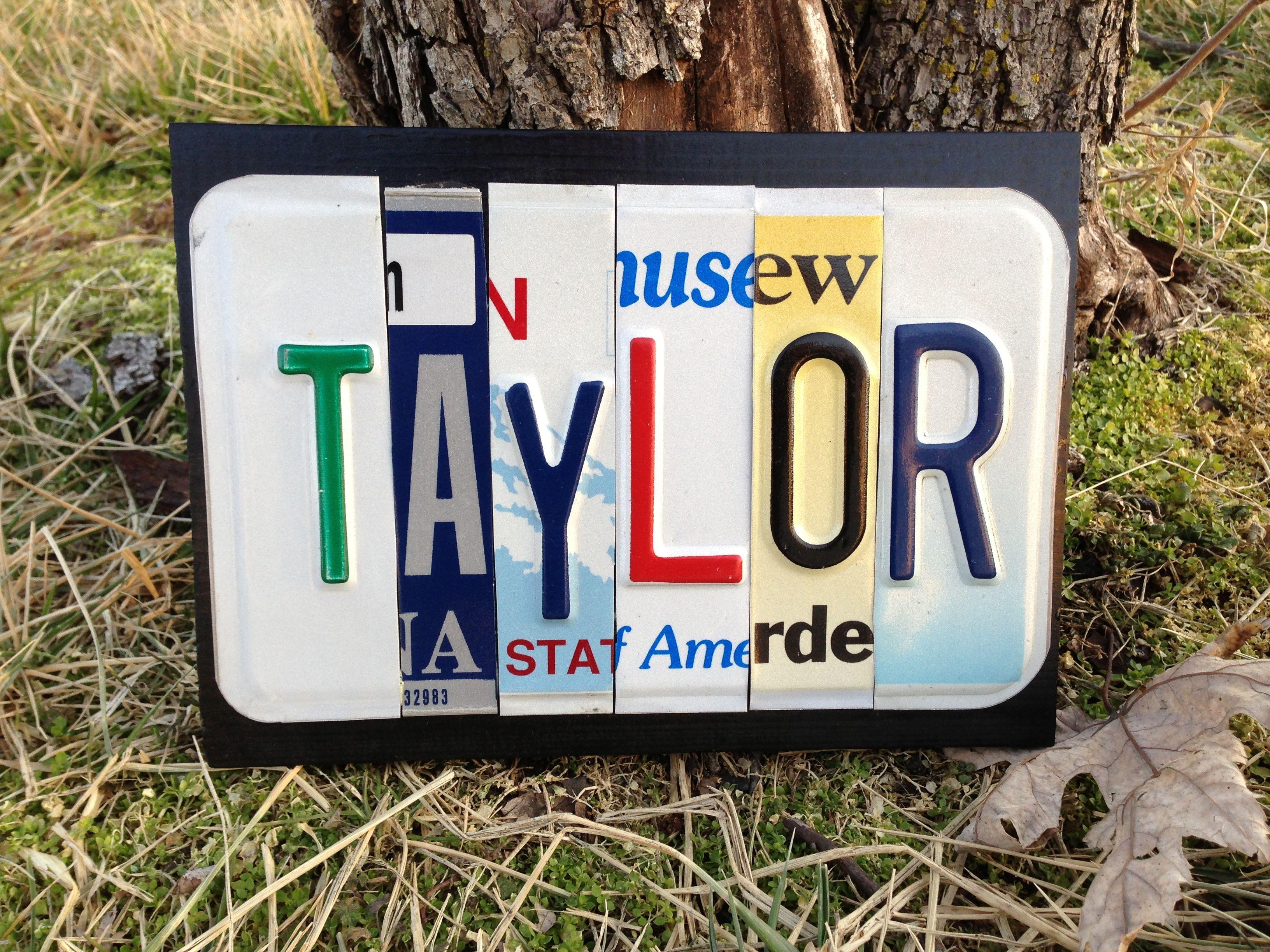 Custom Childs Name Sign Custom License Plate Art