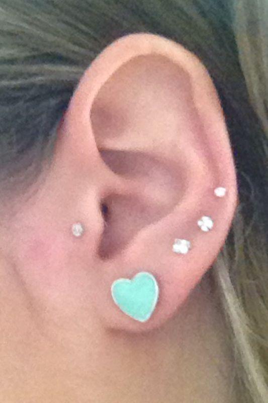 So sweet | Pretty ear piercing | Pinterest