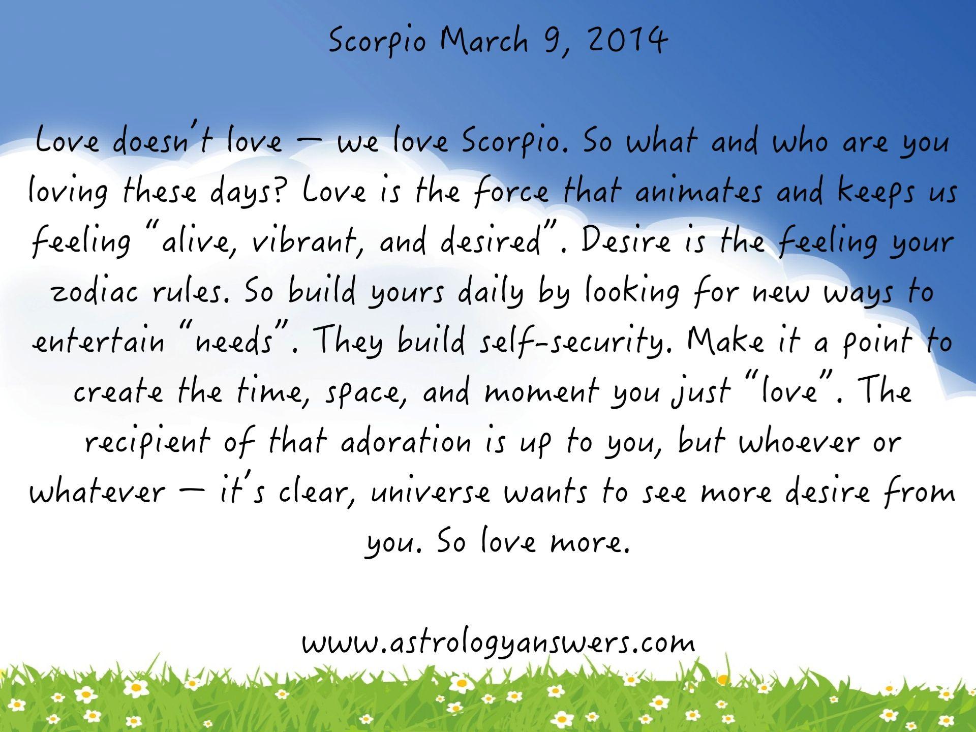 scorpio daily horoscope scorpio horoscope saturday 15th march 2014