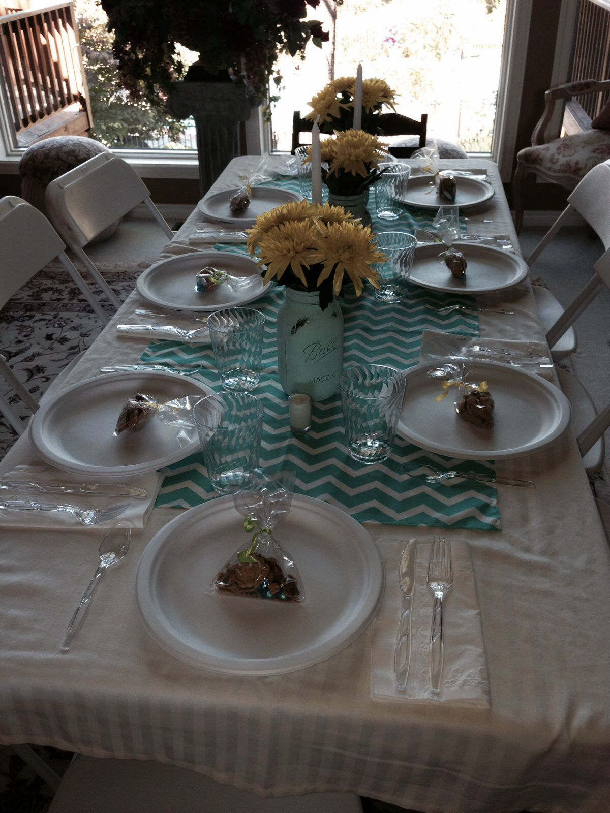 Baby shower table set up baby pinterest Baby shower table setting