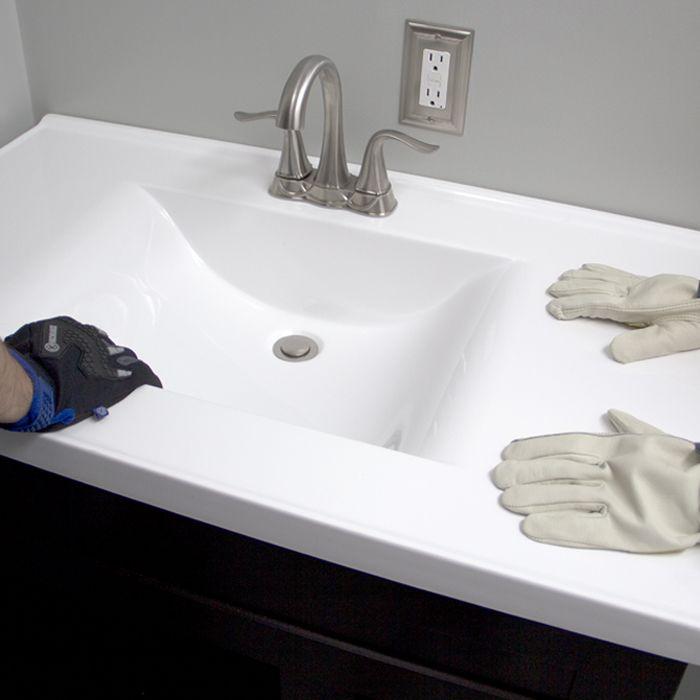 Replacing a bathroom vanity