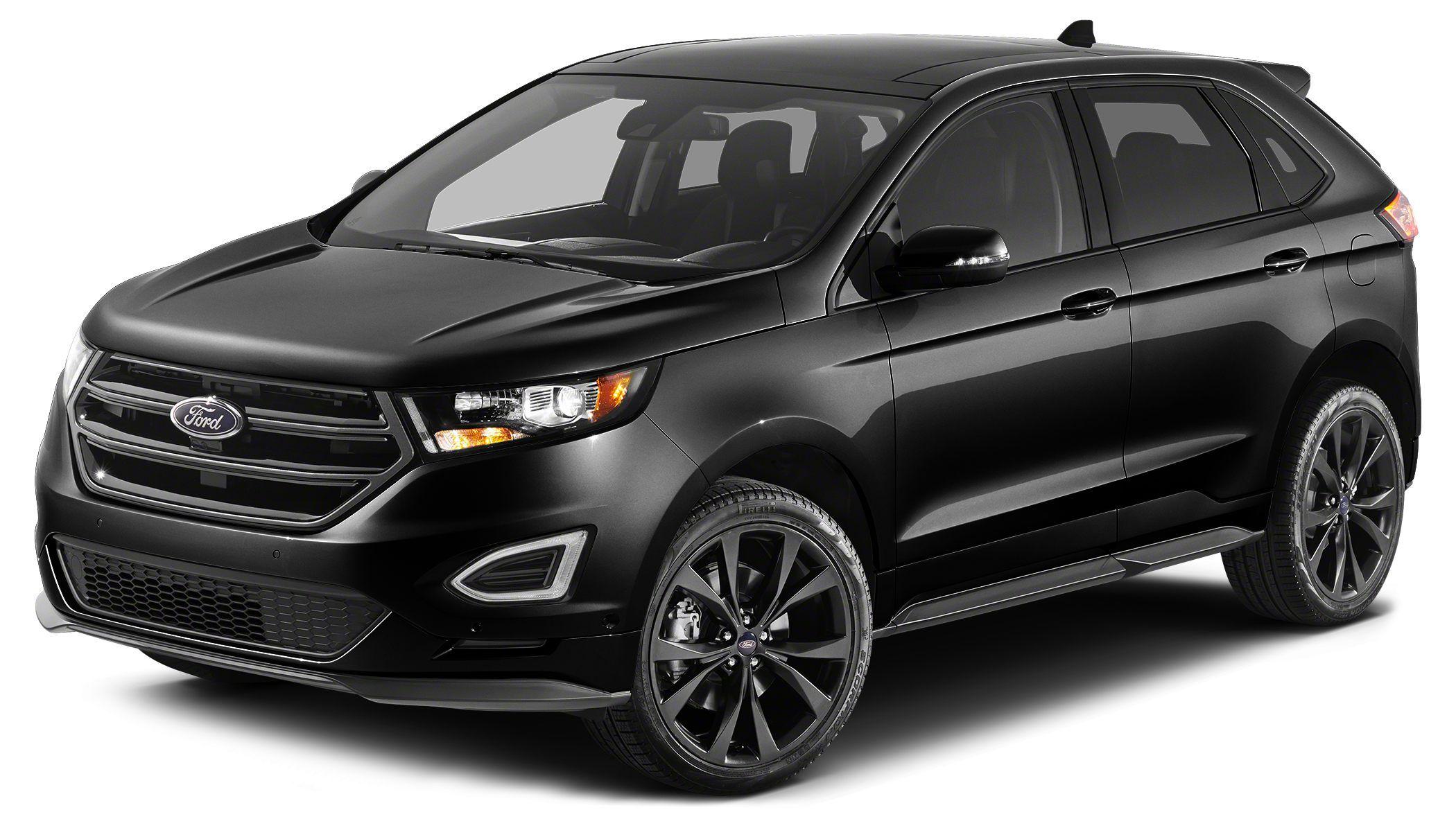 Black 2015 ford edge