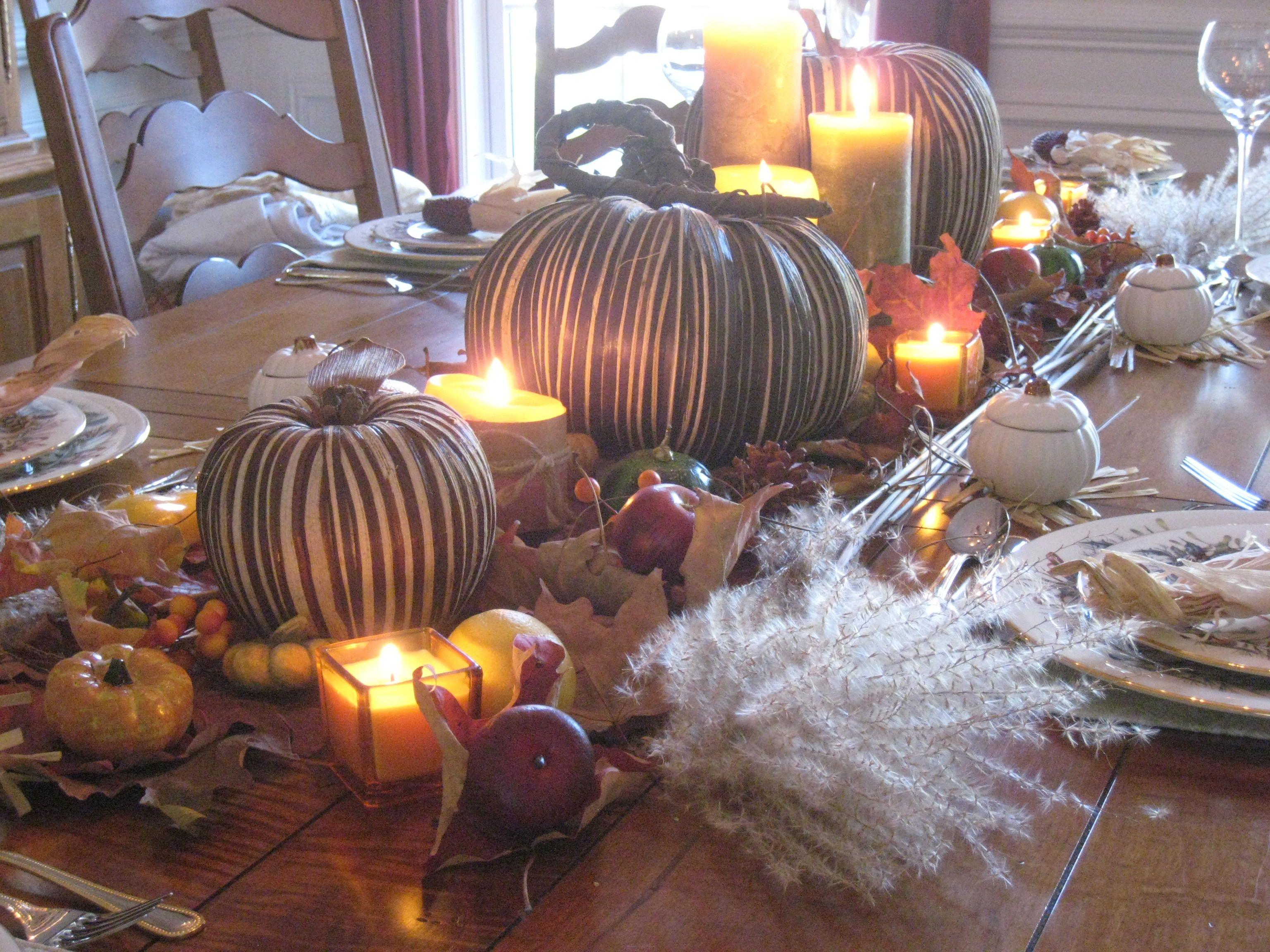 Thanksgiving table setting decorations pinterest - Pinterest deco table ...