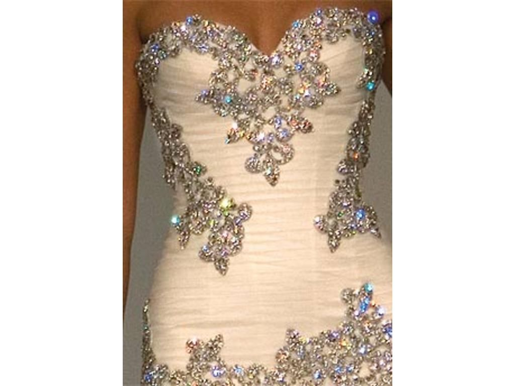Sparkly wedding dress i love blue bloods pinterest for Very sparkly wedding dresses