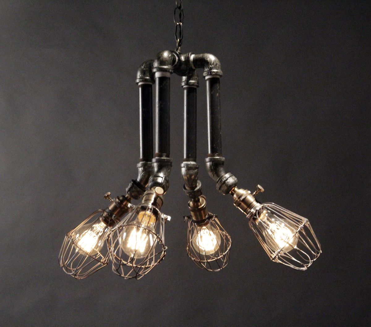 Industrial chandelier pipe pinterest - Lighting lamps chandeliers ...