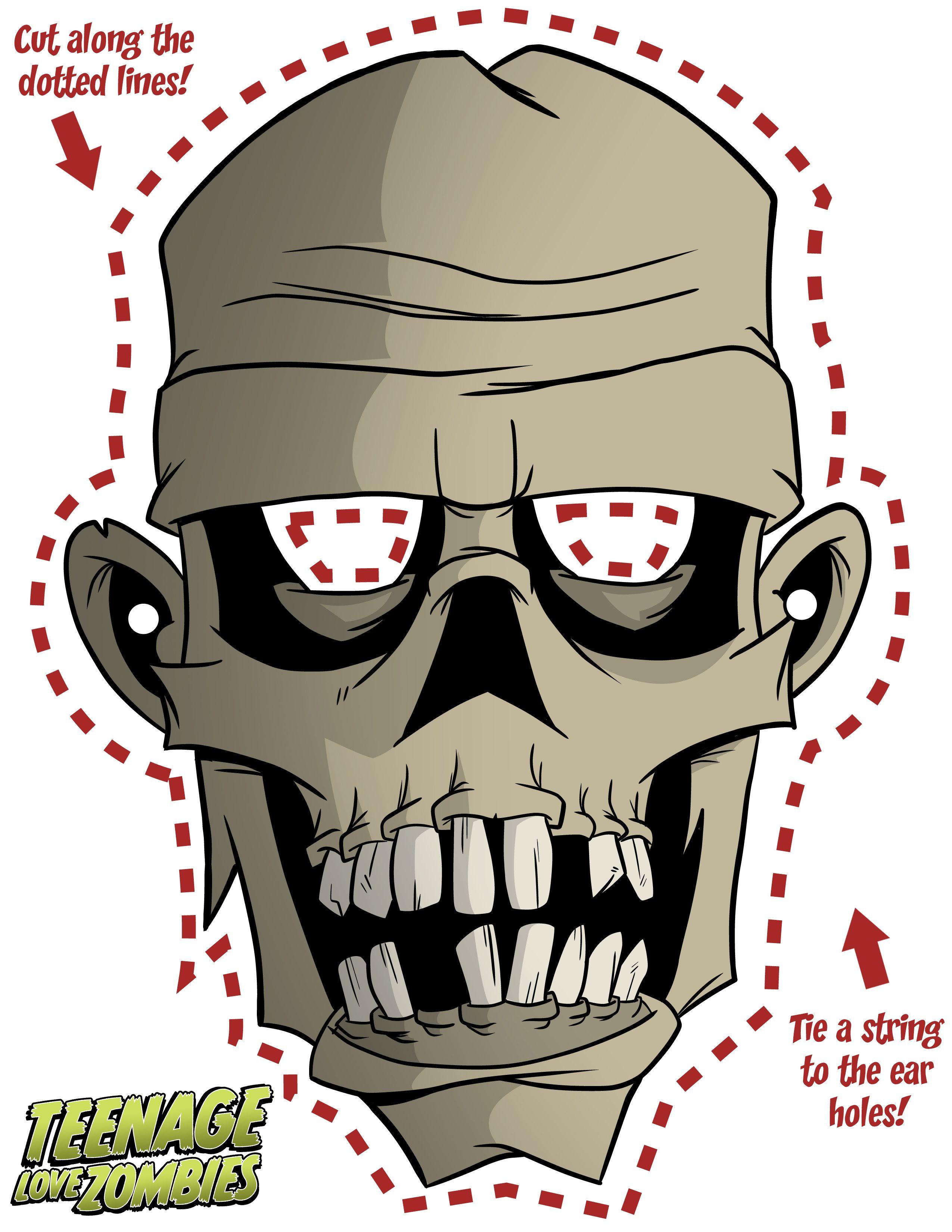 Как сделать маску зомби