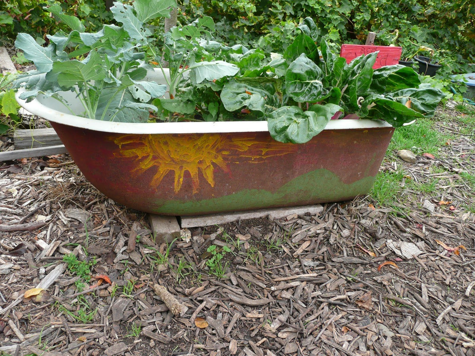 Bathtub Bed   school garden ideas   Pinterest