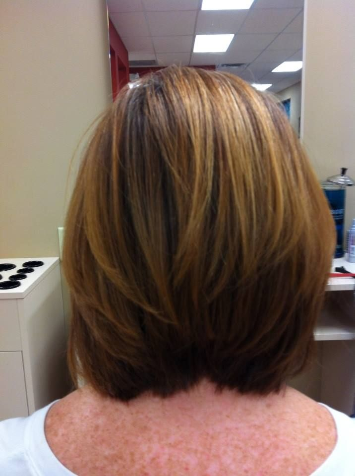 Back View Inverted Bob Hairstyle | newhairstylesformen2014.com