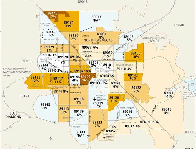 Zip Code Map Las Vegas Clark County Nv Las Vegas Maps