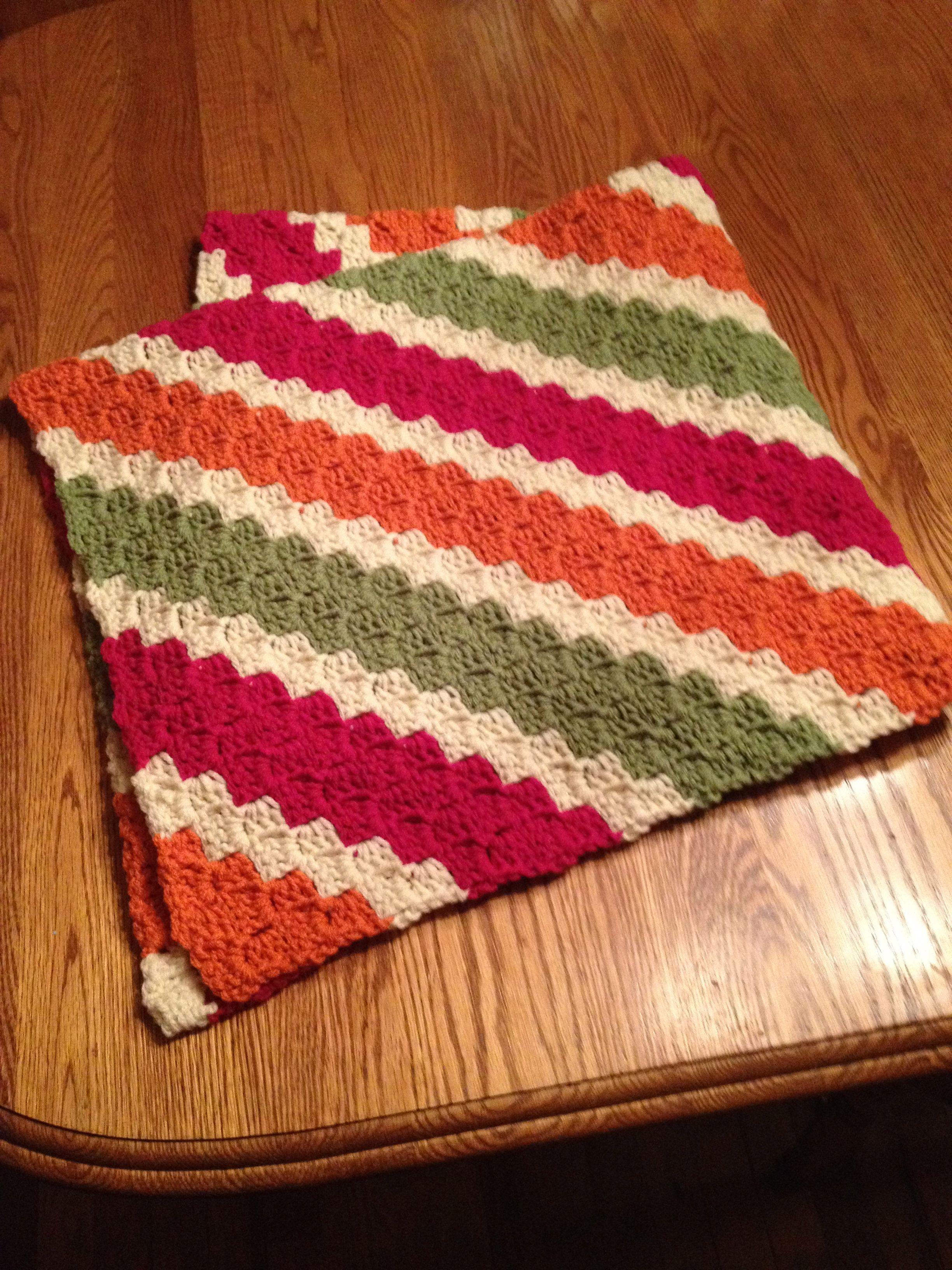 Crochet Pattern For C2c Blanket : Tutti Frutti baby blanket. C2C pattern. Crocheted ...
