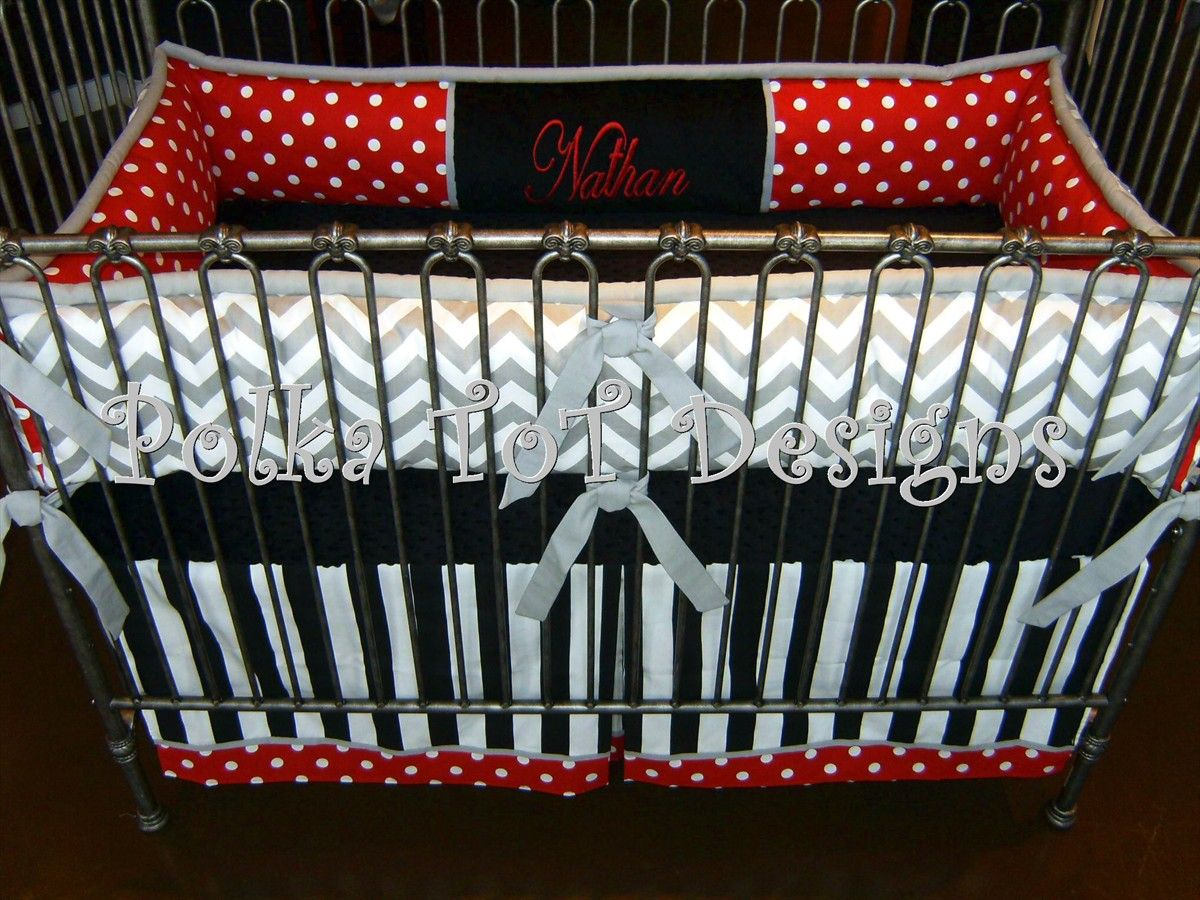 Red Black White And Gray Bedding Black/red/white Gray