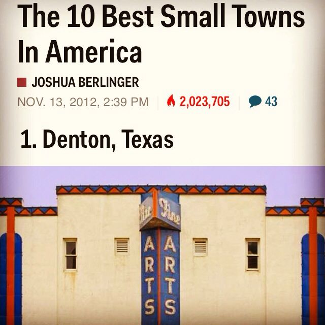 Best Small Town In America Denton Tx Pinterest
