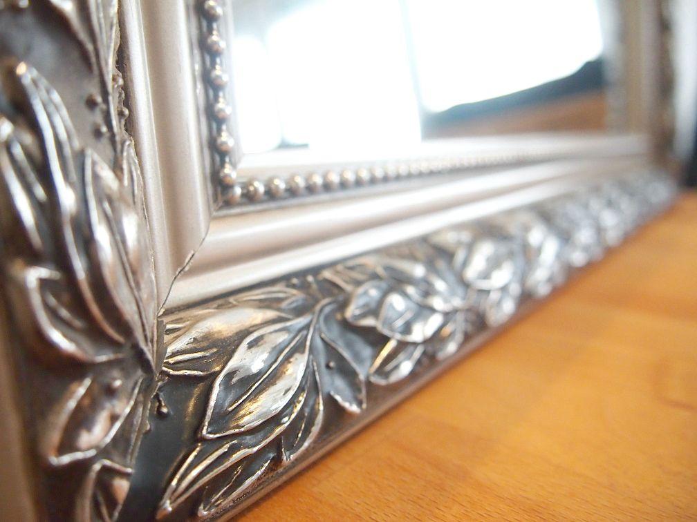 DIY weißer Spiegel mit Gold