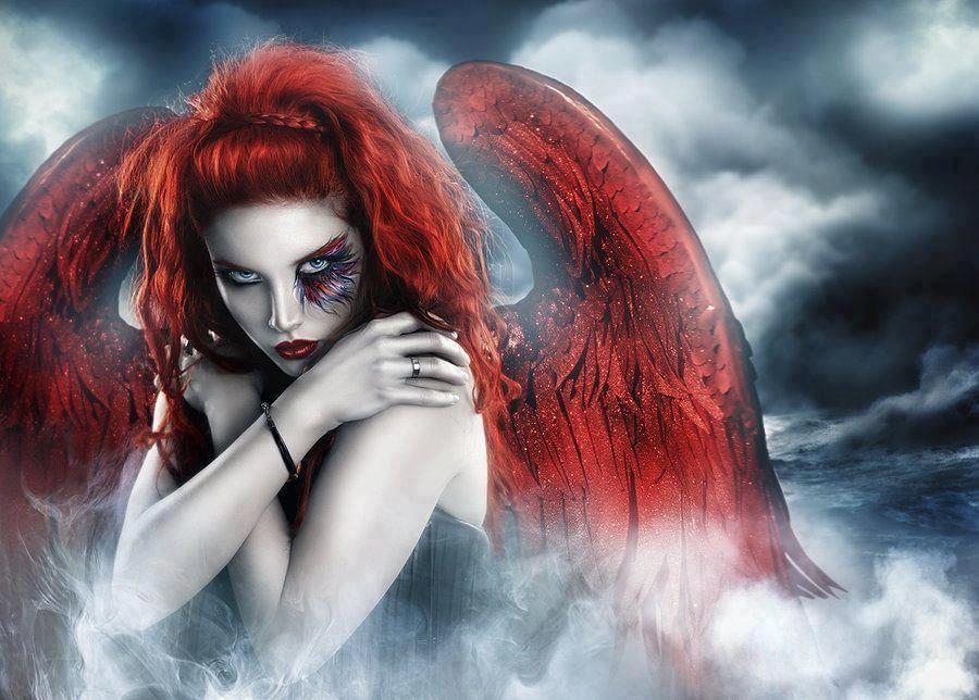 goth angel sperm attack