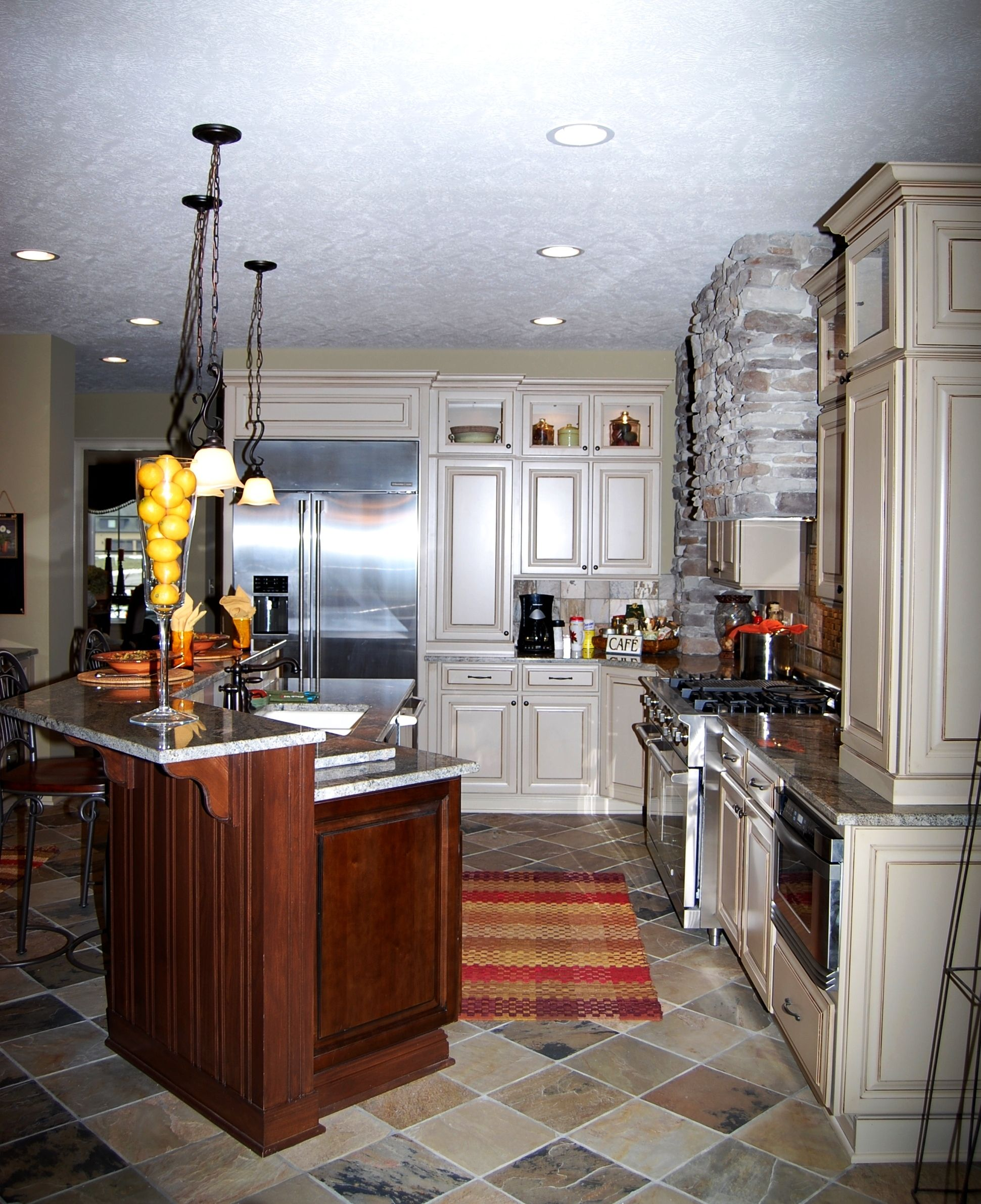 painted and wood cabinetry mixed kitchen design ideas pinterest