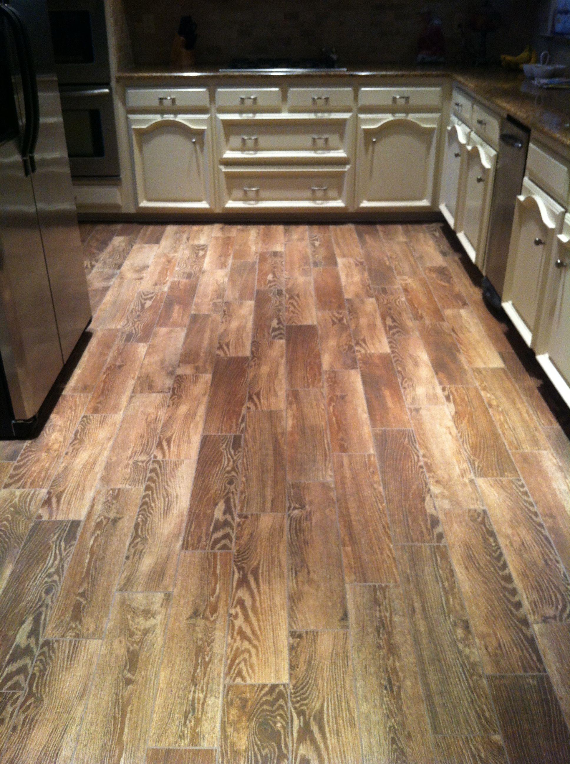 Wood floor that looks like tile