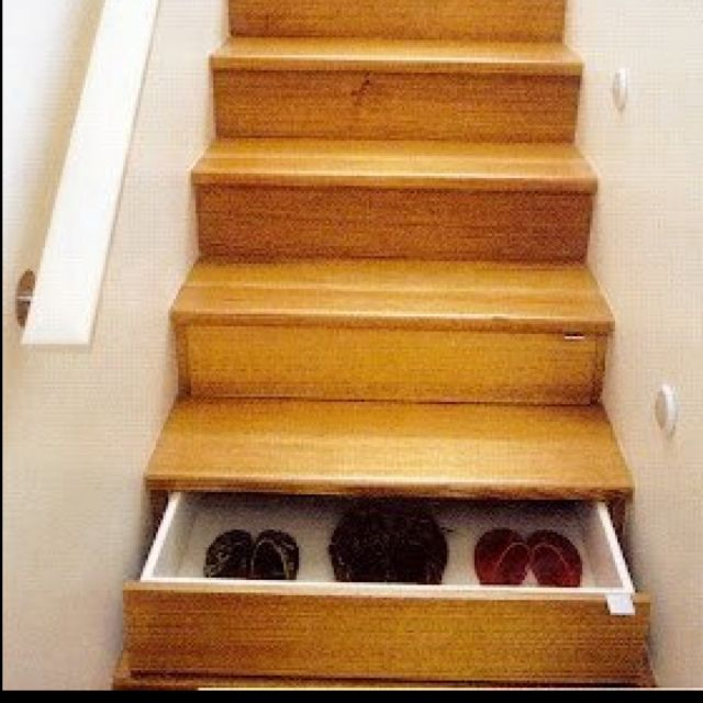 Stair drawers diy shit pinterest for Diy staircase drawers