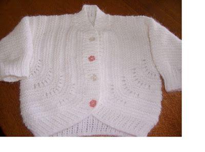 Free Knitting Pattern - Garter Stitch Baby Cardigan from