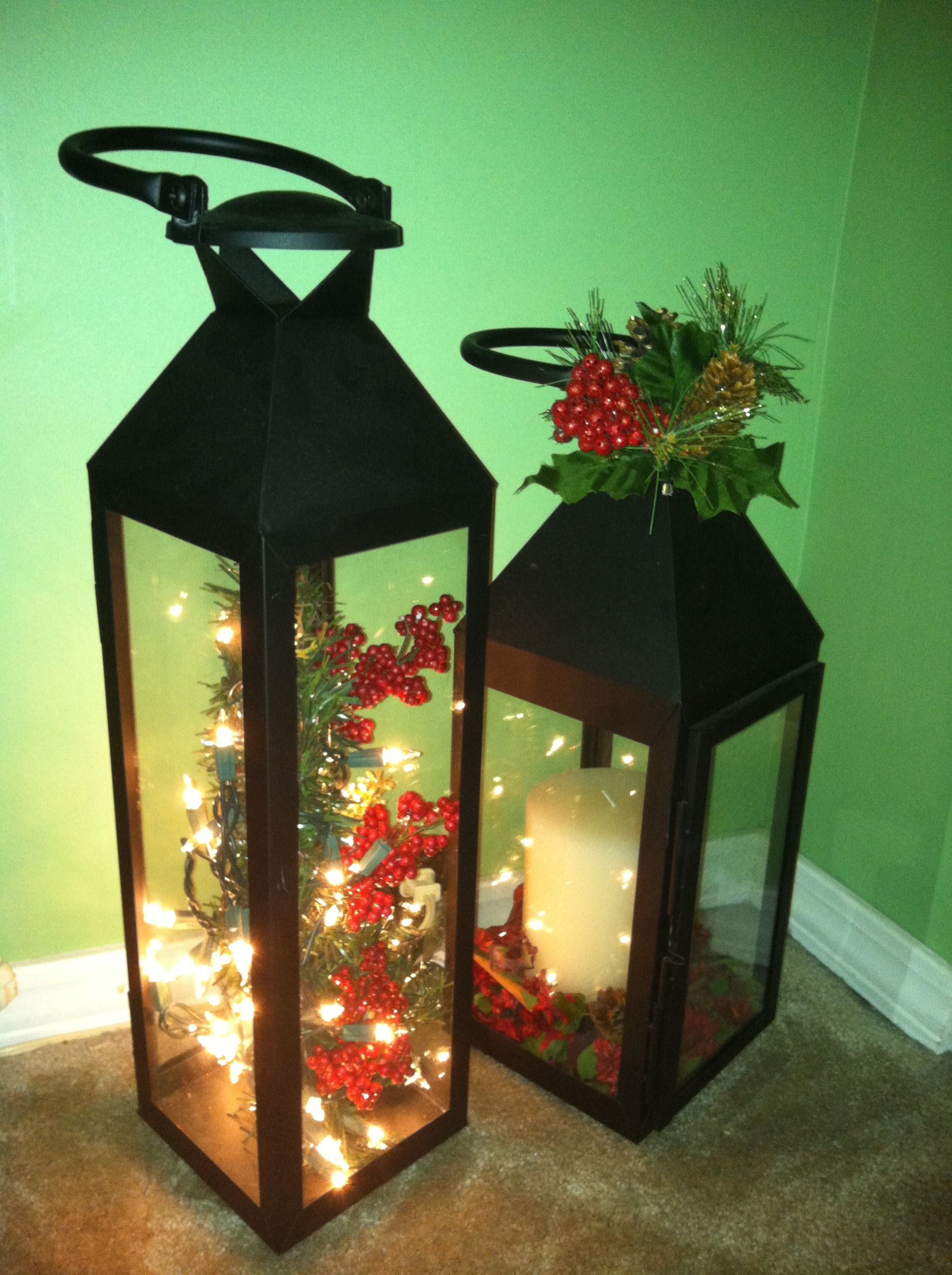 Christmas lantern christmas decorating pinterest for Decor lanterns