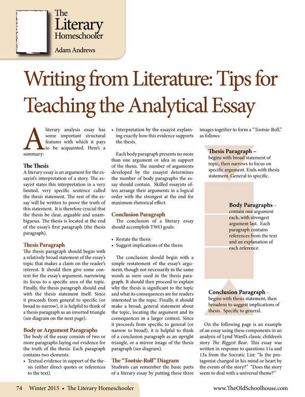 Write my literary analysis research paper topics